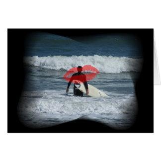 Amo a mi persona que practica surf tarjeta de felicitación