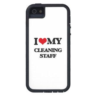 Amo a mi personal de limpieza iPhone 5 funda