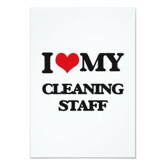 """Amo a mi personal de limpieza invitación 3.5"""" x 5"""""""