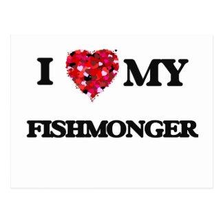 Amo a mi pescadero tarjeta postal