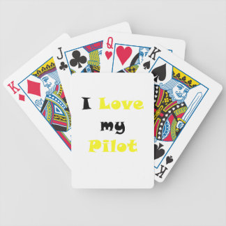Amo a mi piloto baraja cartas de poker