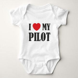 Amo a mi piloto body para bebé