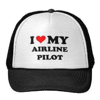 Amo a mi piloto de la línea aérea gorro