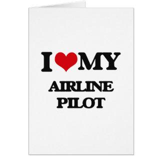 Amo a mi piloto de la línea aérea felicitacion