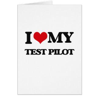 Amo a mi piloto de prueba felicitaciones