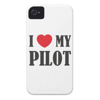 Amo a mi piloto iPhone 4 Case-Mate fundas
