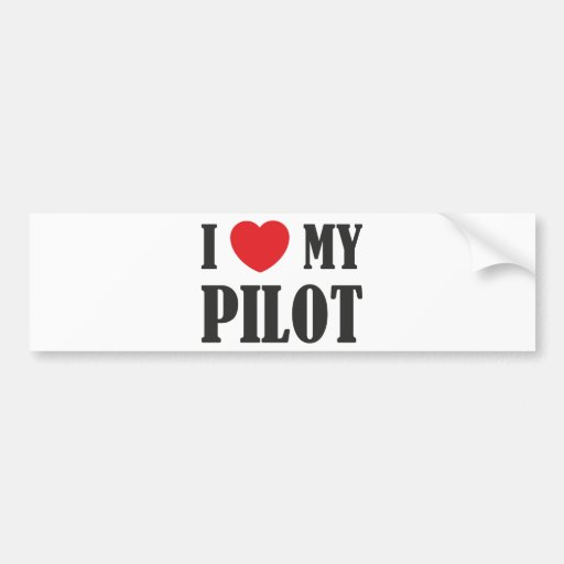 Amo a mi piloto pegatina para auto