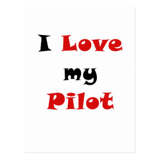 Amo a mi piloto postales