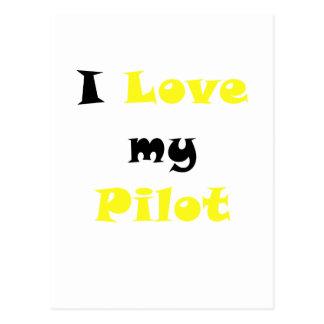 Amo a mi piloto tarjeta postal
