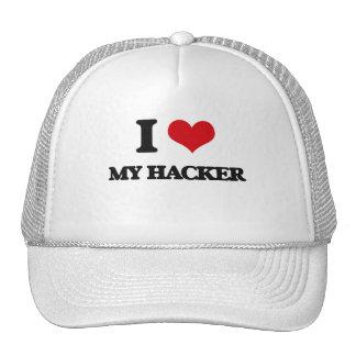 Amo a mi pirata informático gorras de camionero