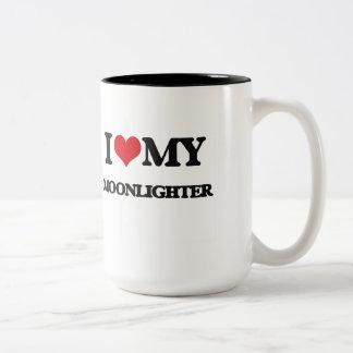 Amo a mi pluriempleado tazas de café