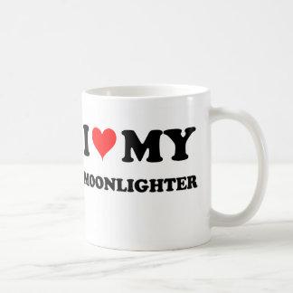 Amo a mi pluriempleado taza de café