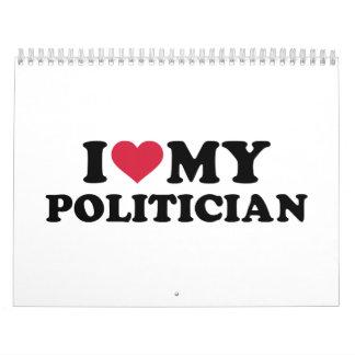 Amo a mi político calendarios