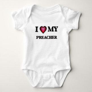 Amo a mi predicador body para bebé