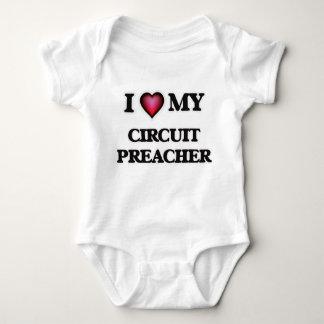 Amo a mi predicador del circuito body para bebé