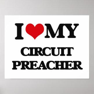 Amo a mi predicador del circuito poster