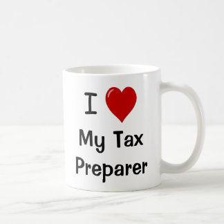 Amo a mi preparador de impuesto/me amo tazas de café