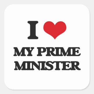 Amo a mi primer ministro colcomania cuadrada