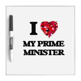 Amo a mi primer ministro pizarras