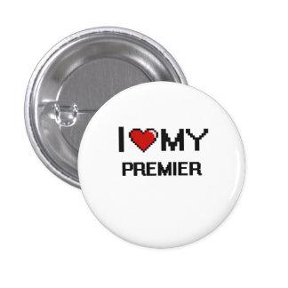 Amo a mi primero ministro pin redondo 2,5 cm