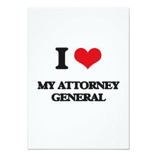 Amo a mi Procurador General de la República Invitación 12,7 X 17,8 Cm
