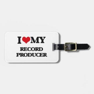 Amo a mi productor de registro etiqueta para maleta