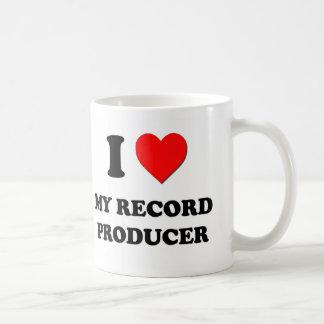 Amo a mi productor de registro tazas