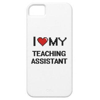 Amo a mi profesor ayudante funda para iPhone 5 barely there