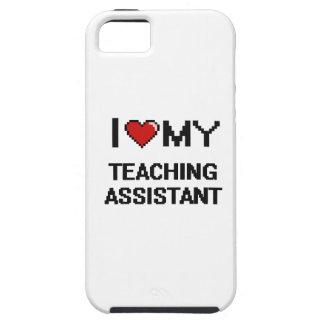 Amo a mi profesor ayudante iPhone 5 fundas