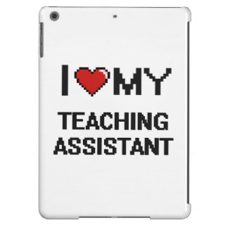 Amo a mi profesor ayudante funda para iPad air