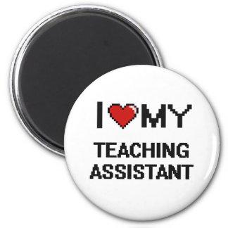 Amo a mi profesor ayudante imán redondo 5 cm