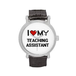 Amo a mi profesor ayudante relojes de pulsera