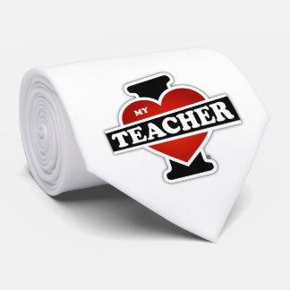 Amo a mi profesor corbatas personalizadas