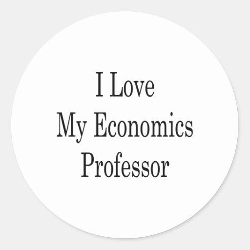 Amo a mi profesor de economía etiquetas redondas