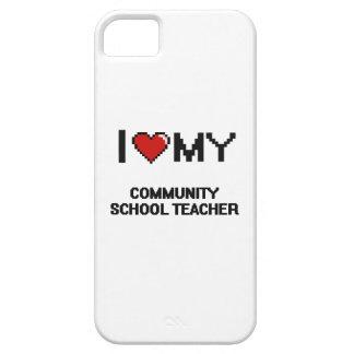Amo a mi profesor de escuela de la comunidad funda para iPhone 5 barely there