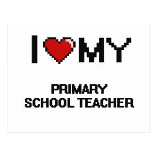 Amo a mi profesor de escuela primario postal