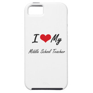 Amo a mi profesor de escuela secundaria funda para iPhone 5 tough