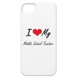 Amo a mi profesor de escuela secundaria iPhone 5 funda