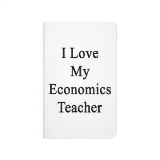 Amo a mi profesor de la economía cuadernos grapados