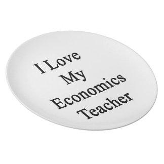 Amo a mi profesor de la economía plato de cena