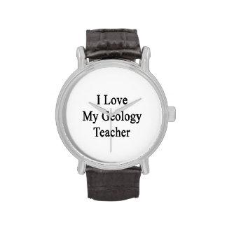 Amo a mi profesor de la geología reloj