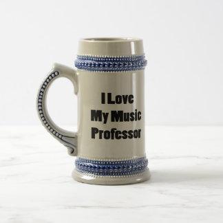 Amo a mi profesor de la música taza de café
