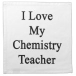 Amo a mi profesor de la química servilletas