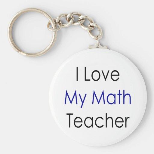 Amo a mi profesor de matemáticas llavero redondo tipo pin