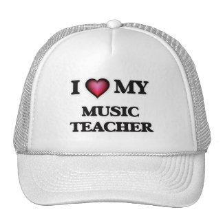 Amo a mi profesor de música gorras