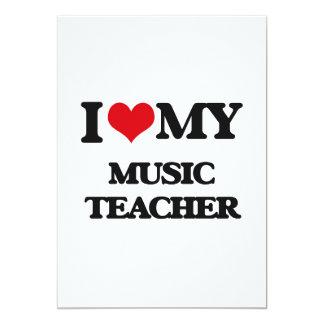 Amo a mi profesor de música invitación 12,7 x 17,8 cm