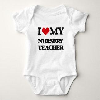 Amo a mi profesor del cuarto de niños t shirts