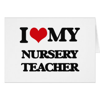 Amo a mi profesor del cuarto de niños tarjeta de felicitación
