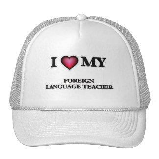 Amo a mi profesor del idioma extranjero gorras de camionero