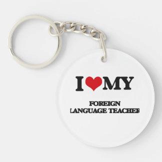 Amo a mi profesor del idioma extranjero llavero